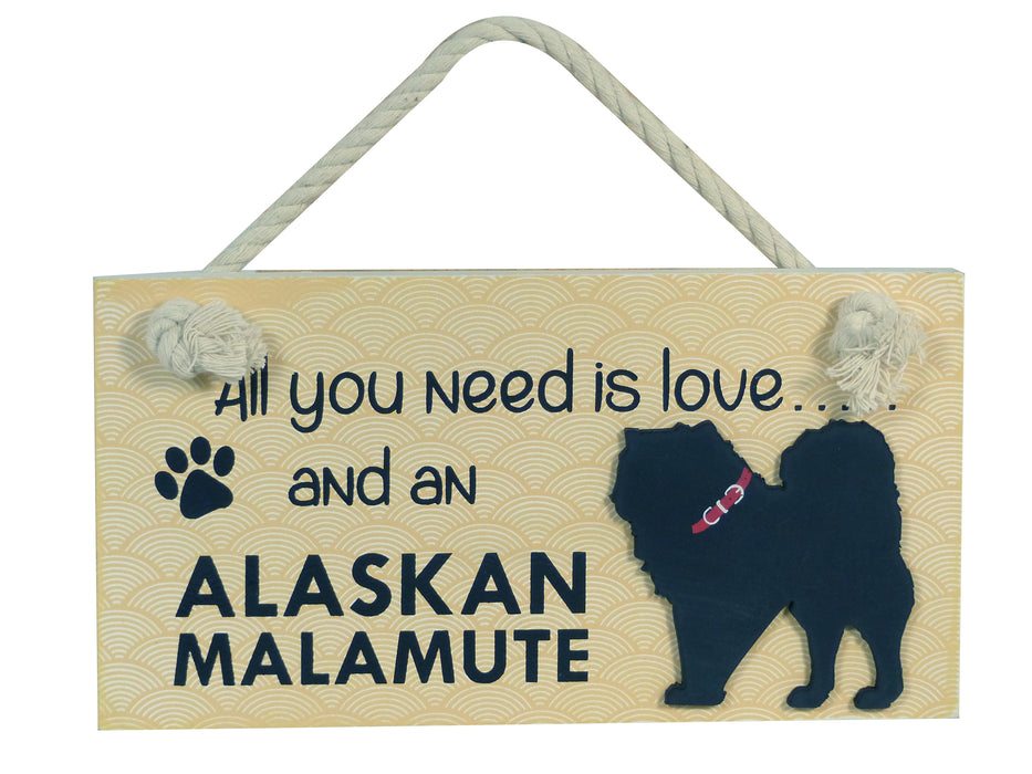 Wooden Pet Sign - Alaskan Malamute