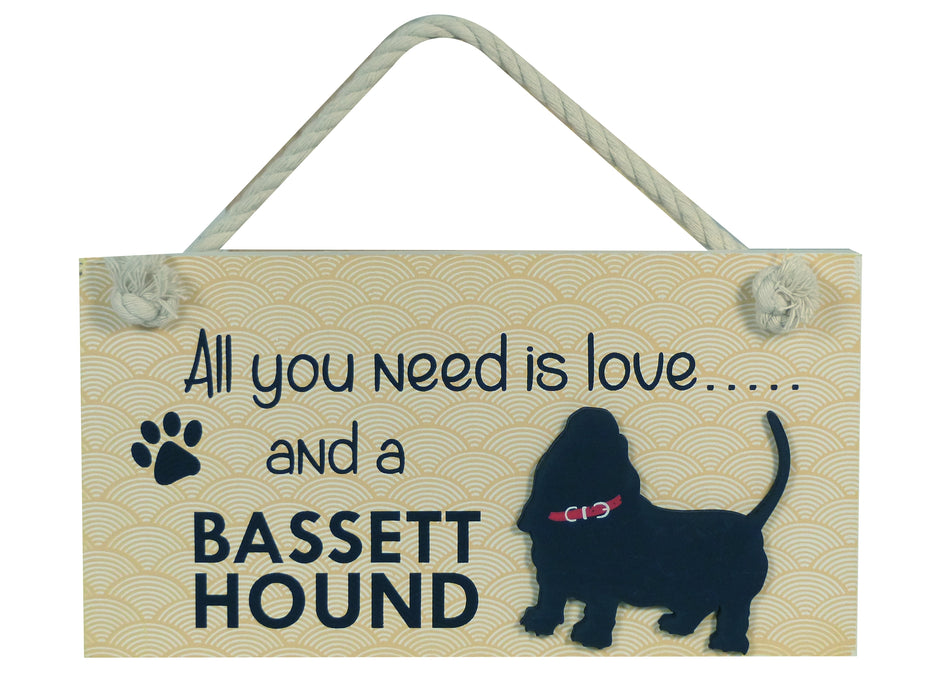 Wooden Pet Sign - Bassett Hound