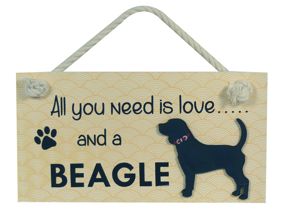 Wooden Pet Sign - Beagle