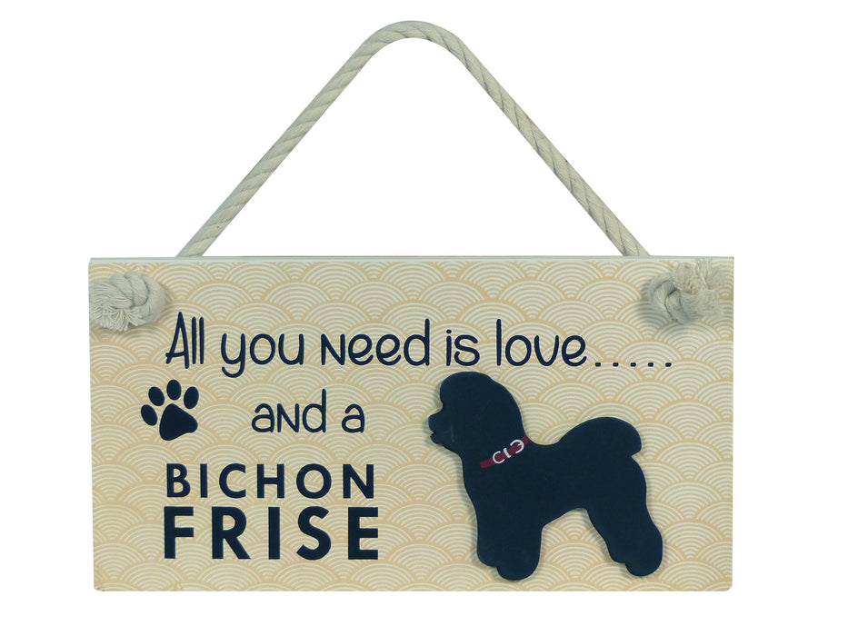 Wooden Pet Sign - Bichon Frise