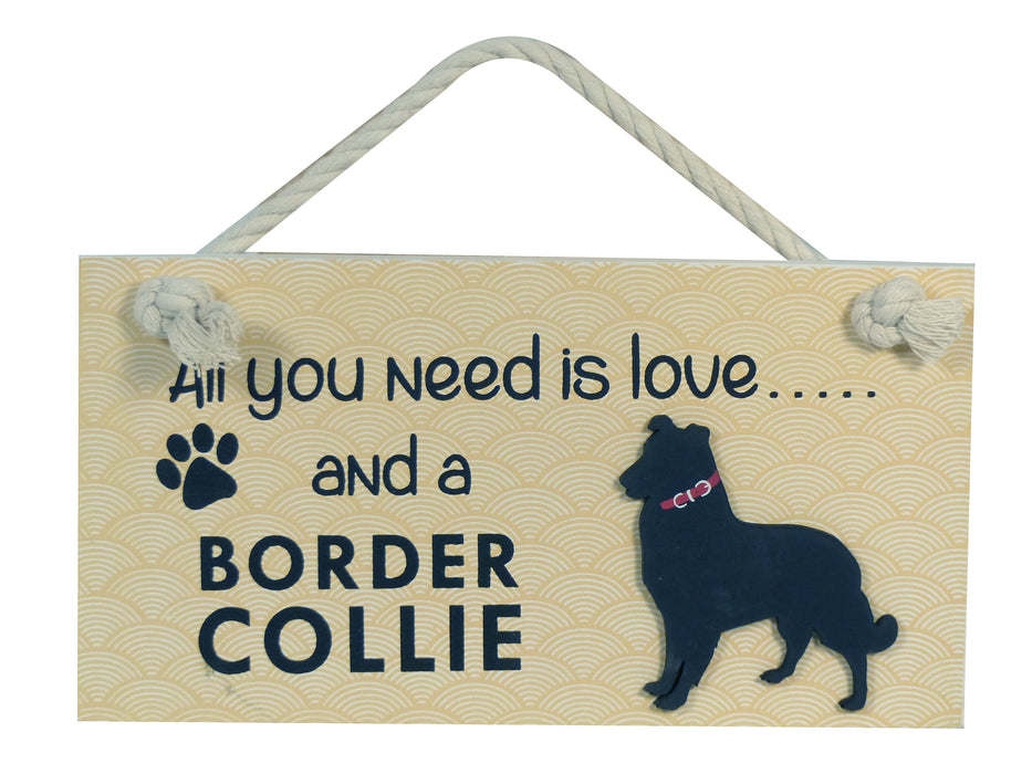 Wooden Pet Sign - Border Collie
