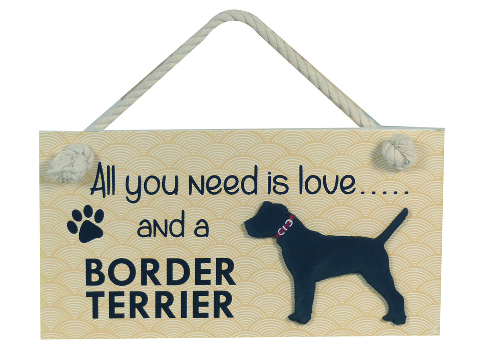 Wooden Pet Sign - Border Terrier