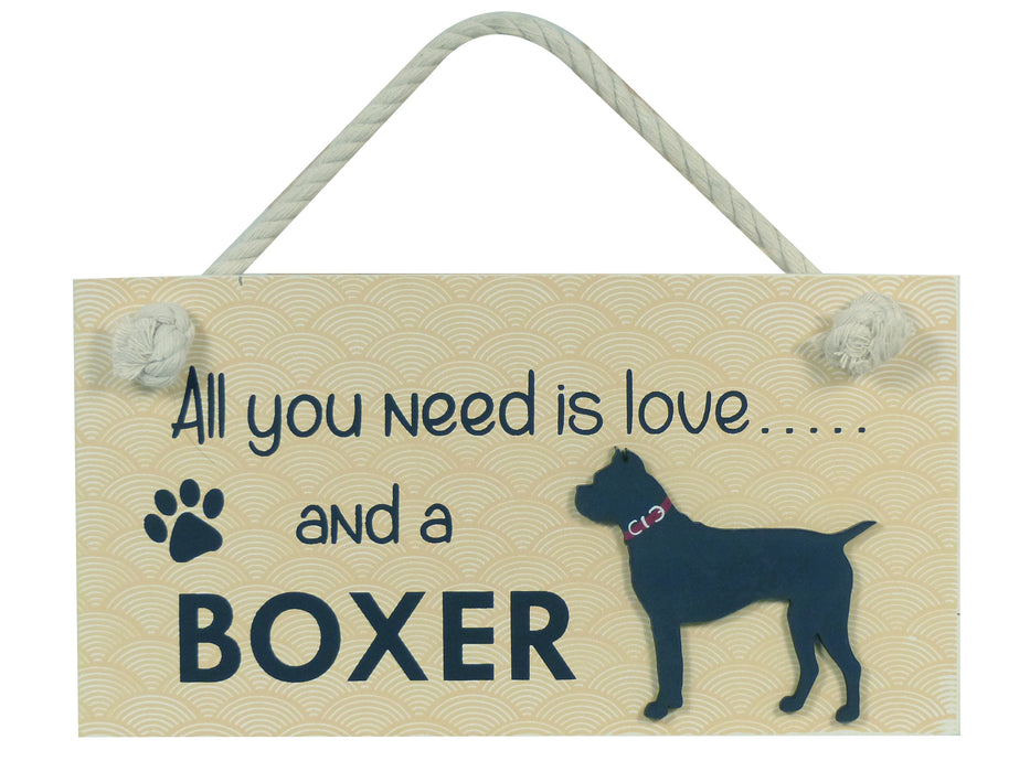 Wooden Pet Sign - Boxer