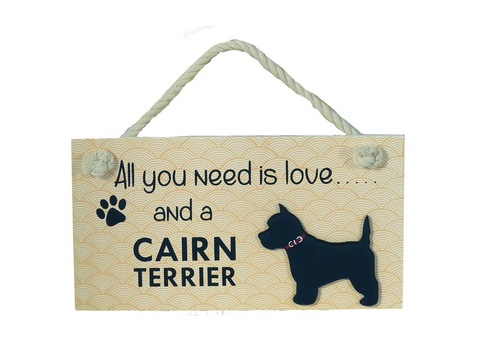 Wooden Pet Sign - Cairn Terrier