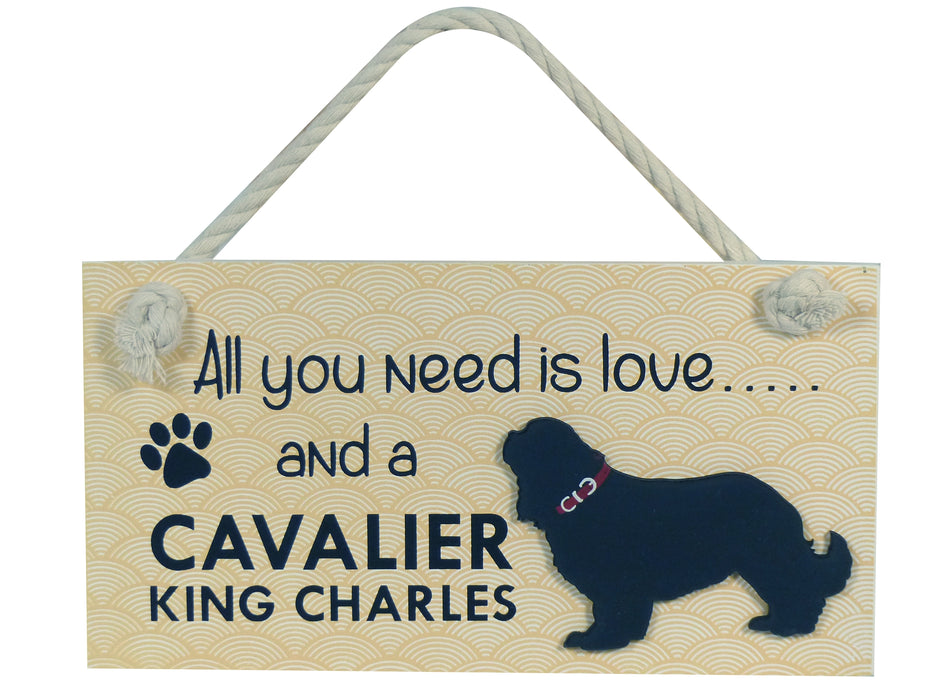 Wooden Pet Sign - Cavalier King Charles