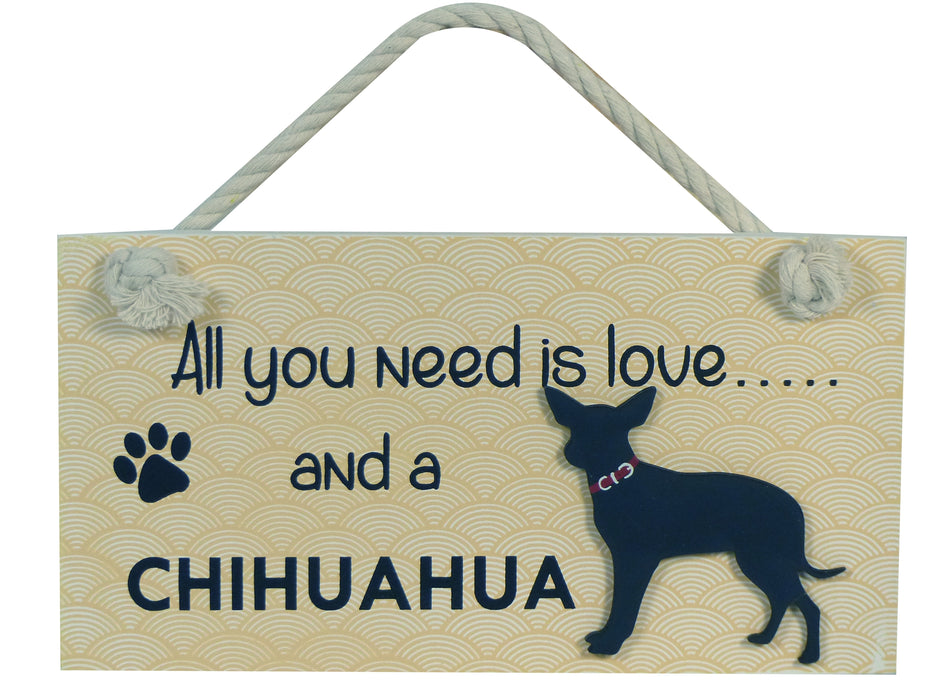 Wooden Pet Sign - Smooth Haired Chihuahua