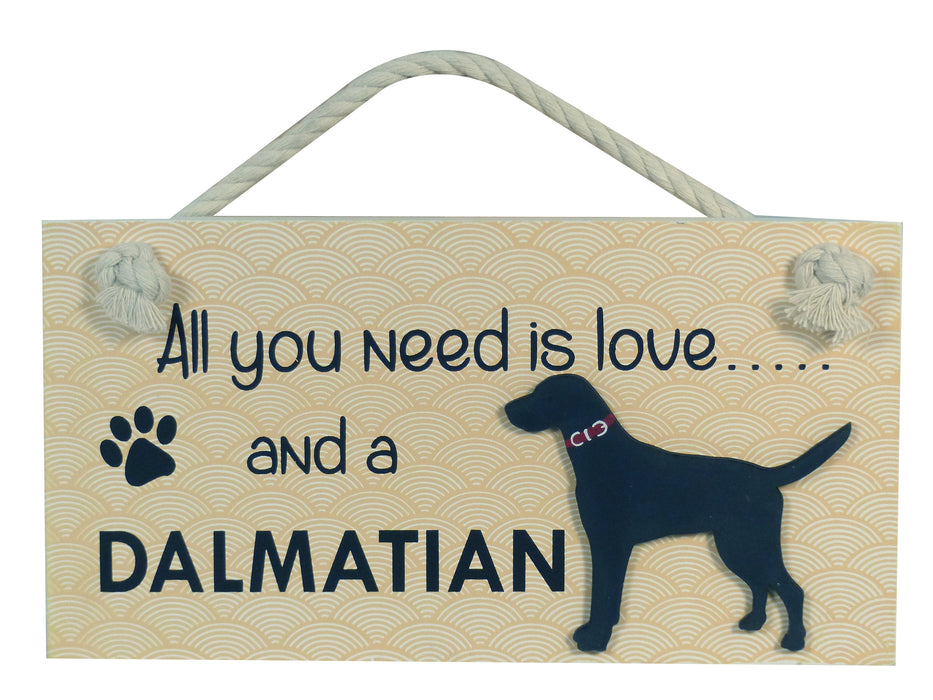 Wooden Pet Sign - Dalmatian