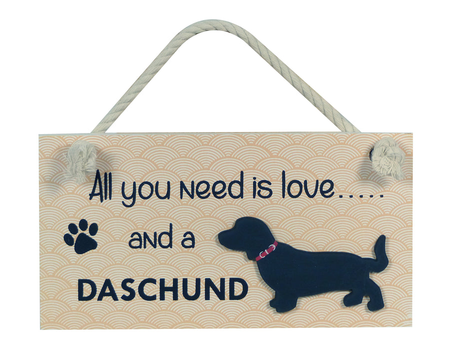 Wooden Pet Sign - Daschund