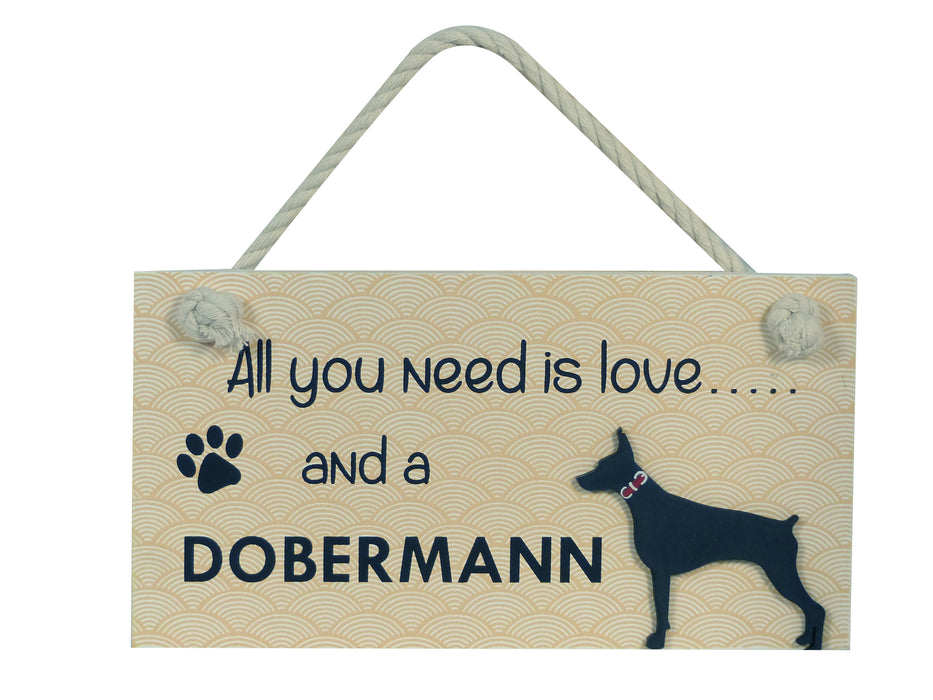 Wooden Pet Sign - Dobermann