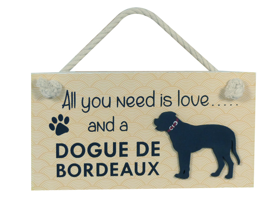 Wooden Pet Sign - Dogue De Bordeaux