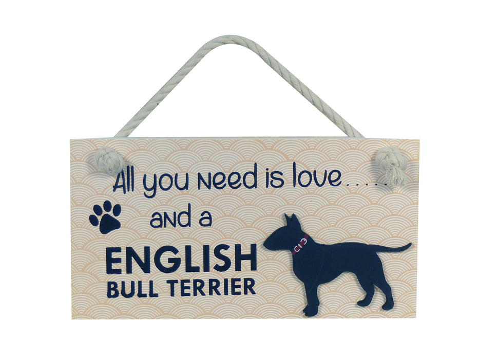 Wooden Pet Sign - English Bull Terrier