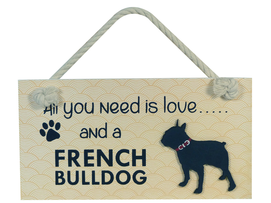 Wooden Pet Sign - French Bulldog