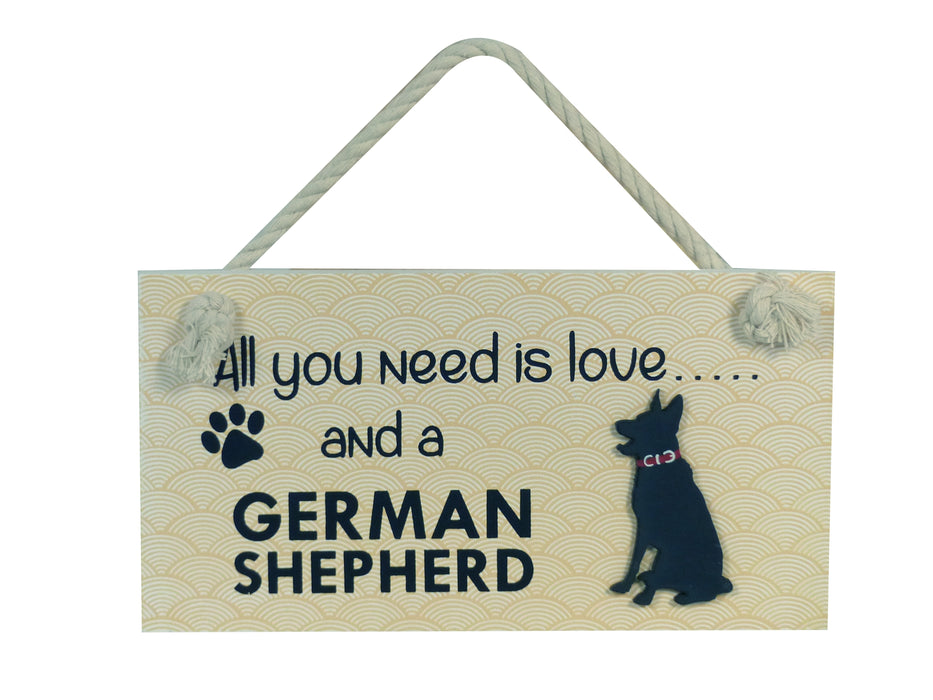 Wooden Pet Sign - German Shepherd