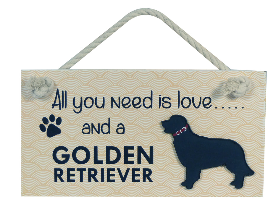 Wooden Pet Sign - Golden Retriever
