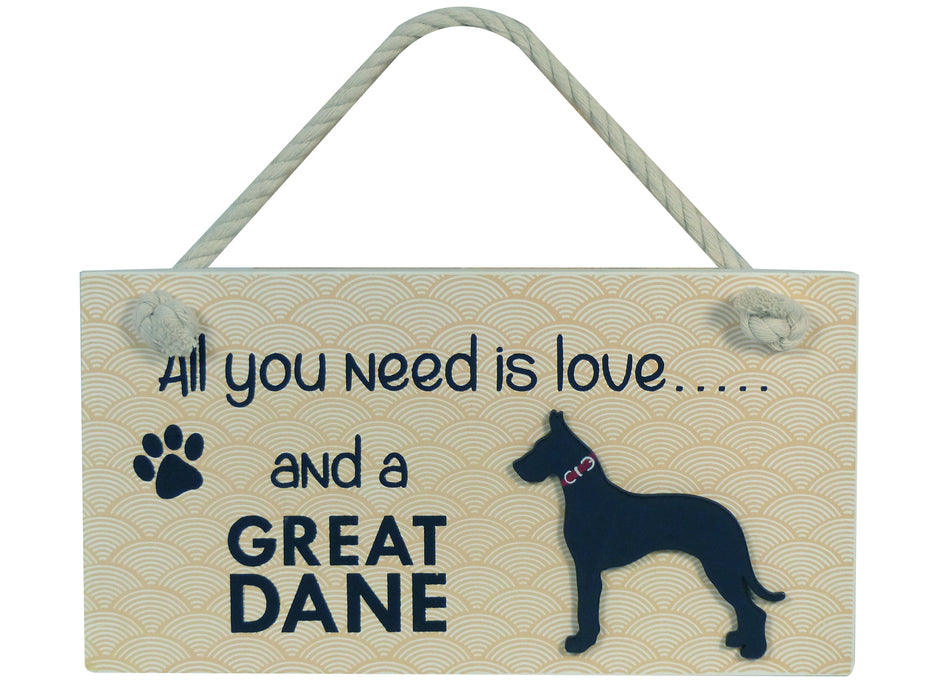 Wooden Pet Sign - Great Dane