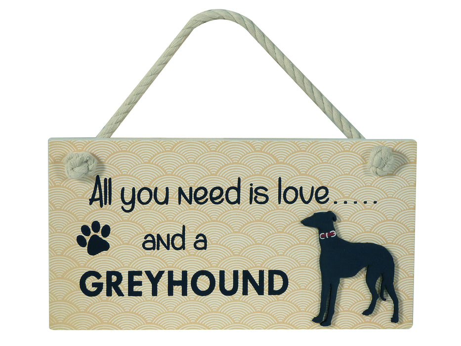 Wooden Pet Sign - Greyhound