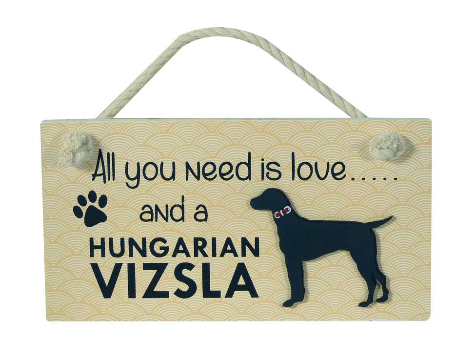 Wooden Pet Sign - Hungarian Vizsla