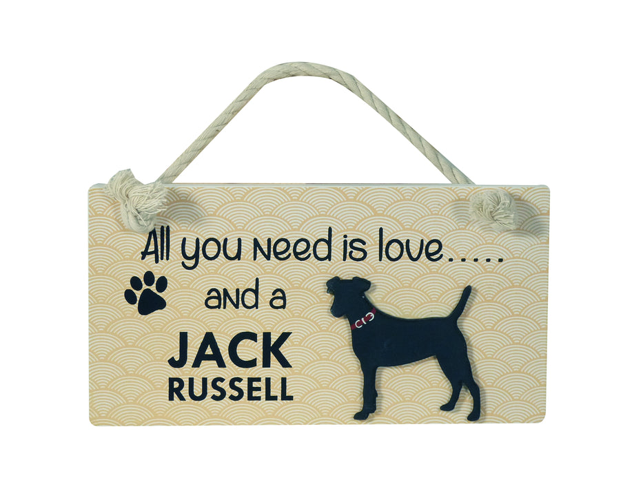 Wooden Pet Sign - Jack Russell