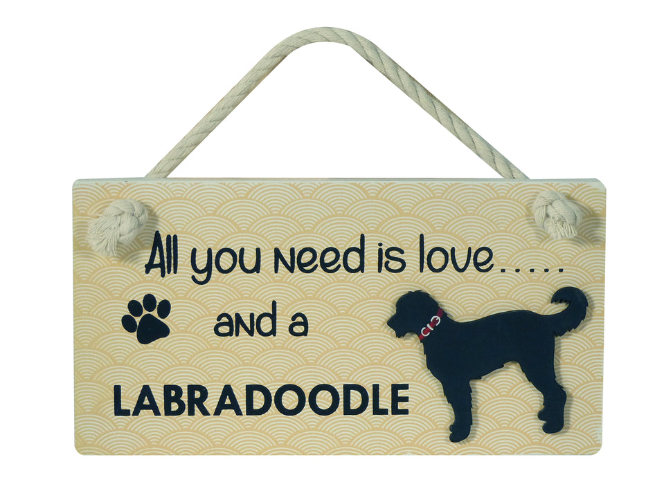 Wooden Pet Sign - Labradoodle