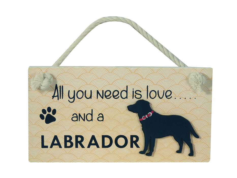 Wooden Pet Sign - Labrador