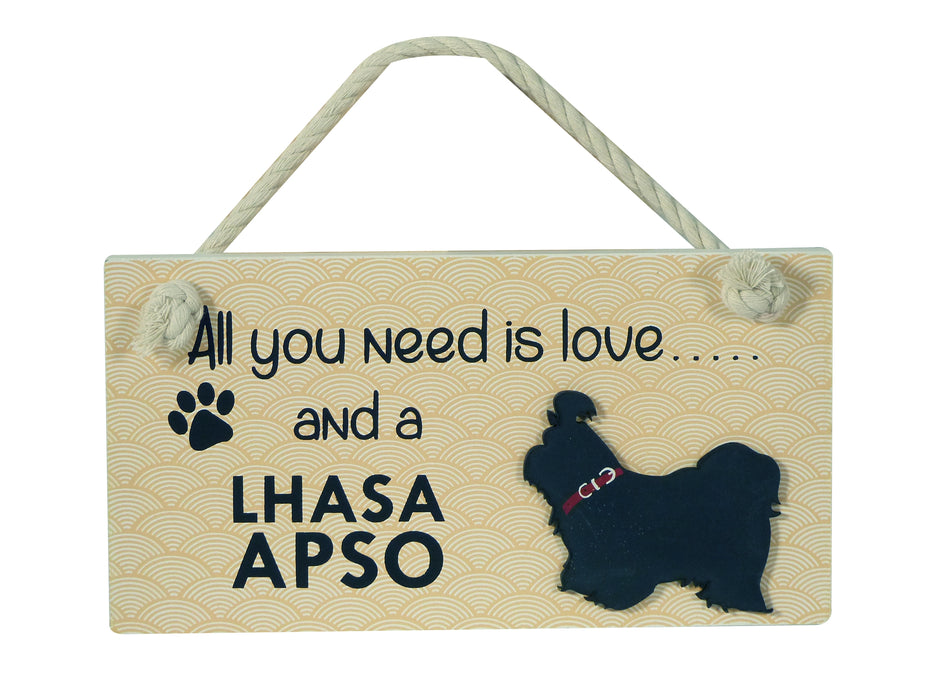 Wooden Pet Sign - Lhasa Apso