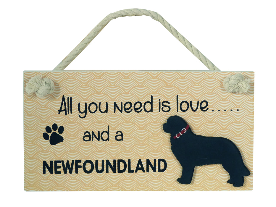 Wooden Pet Sign - Newfoundland