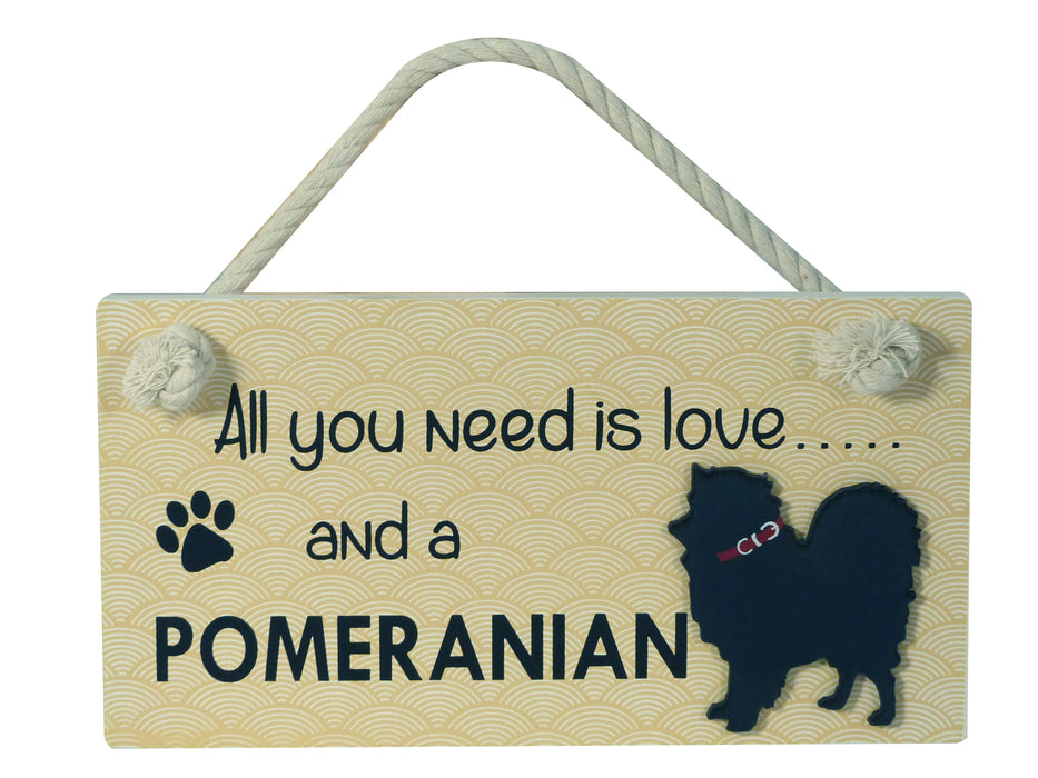 Wooden Pet Sign - Pomeranian