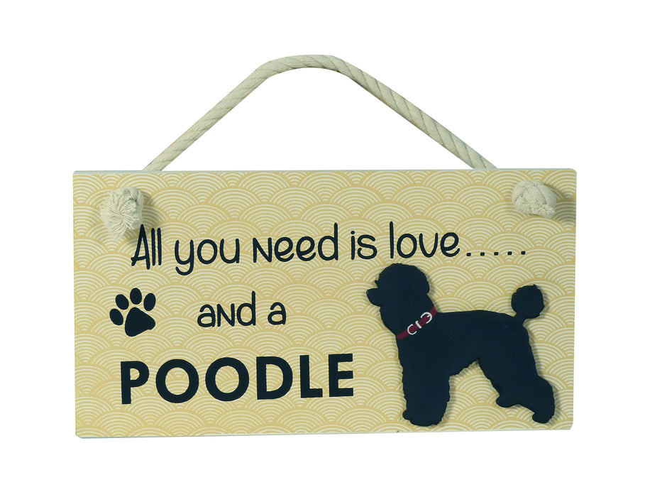 Wooden Pet Sign - Poodle