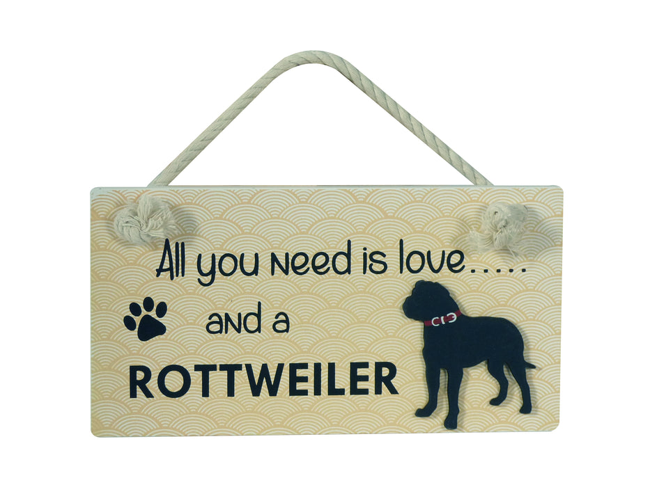 Wooden Pet Sign - Rottweiler