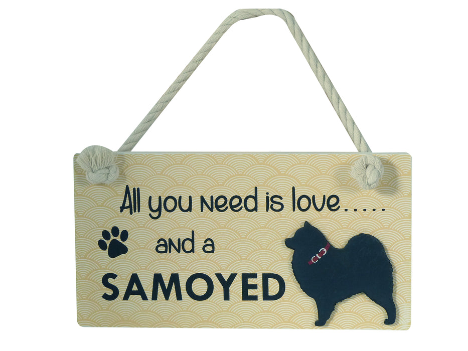 Wooden Pet Sign - Samoyed