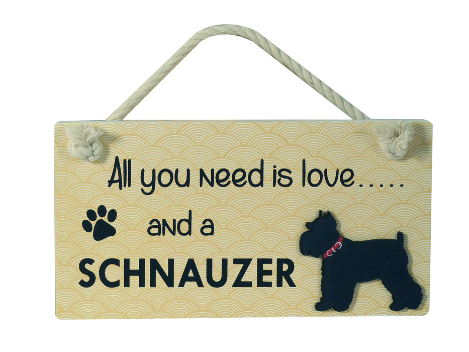 Wooden Pet Sign - Schnauzer