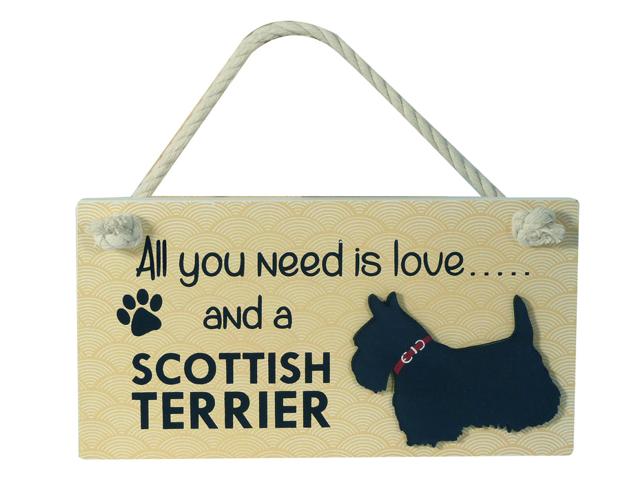 Wooden Pet Sign - Scottish Terrier