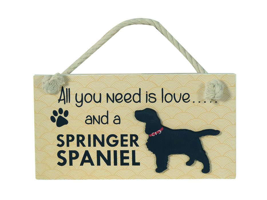 Wooden Pet Sign - Springer Spaniel