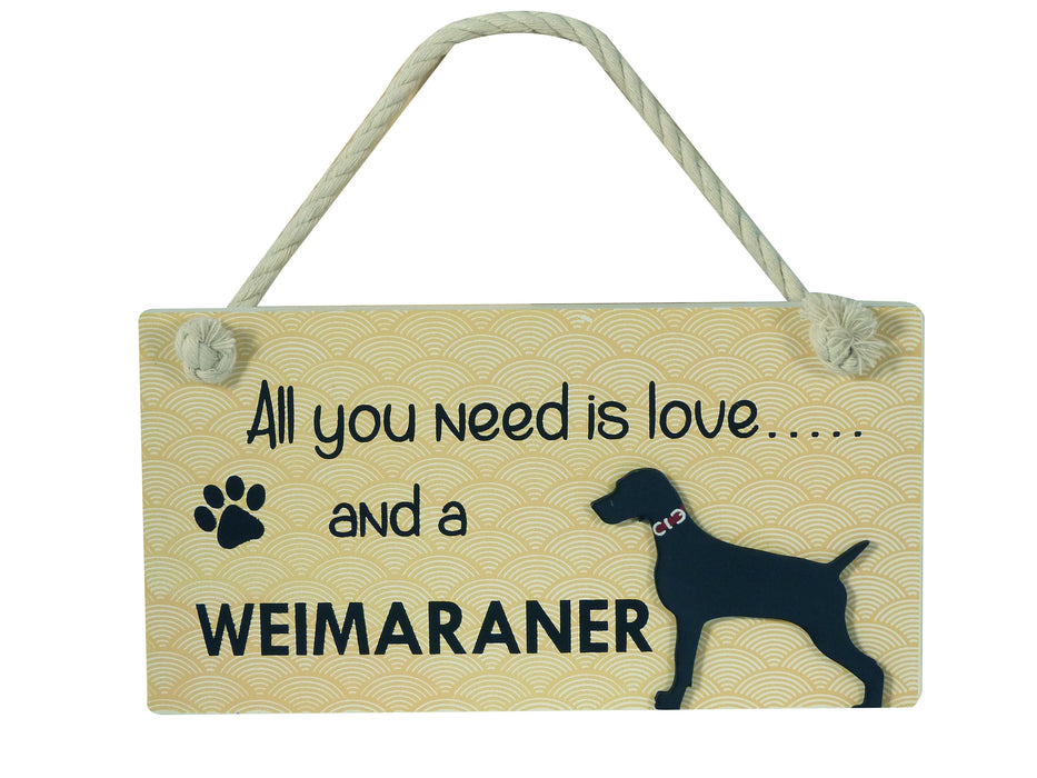 Wooden Pet Sign - Weimaraner
