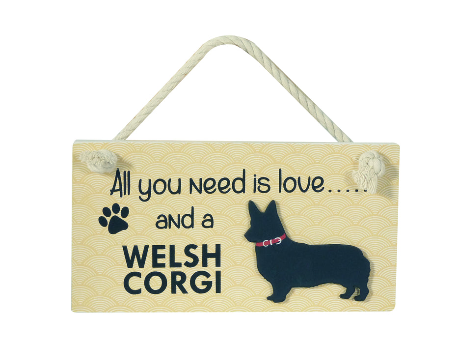 Wooden Pet Sign - Welsh Corgi