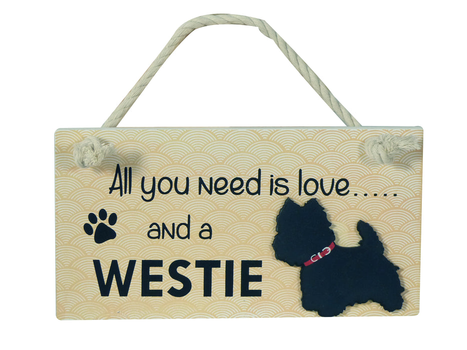 Wooden Pet Sign - West Highland Terrier