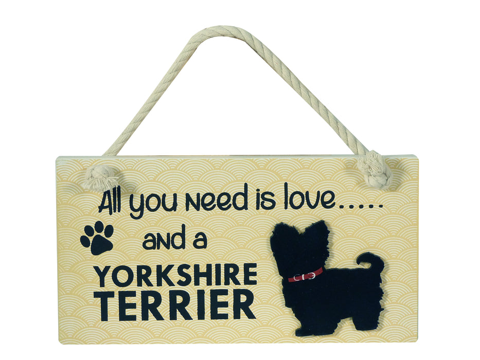 Wooden Pet Sign - Yorkshire Terrier