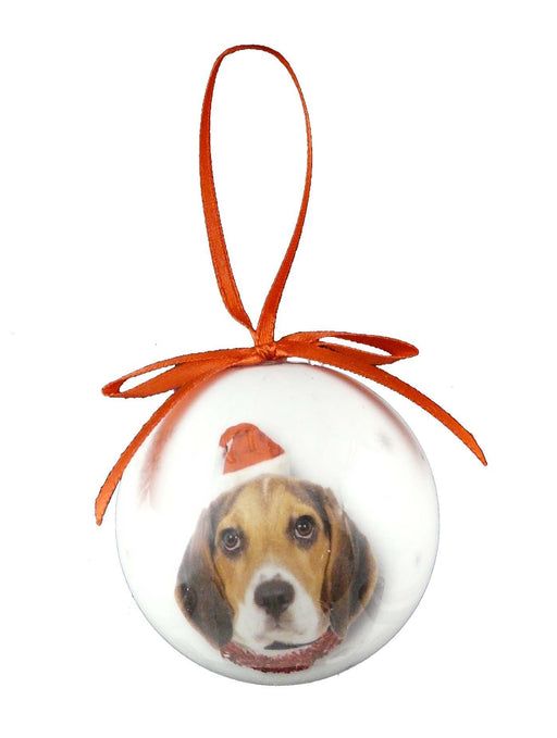 Christmas Beagle Bauble