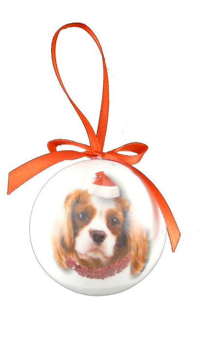 Christmas Cavalier King Charles Bauble