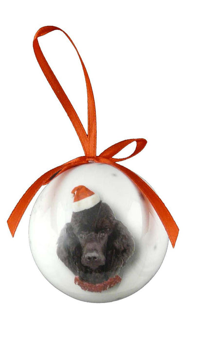 Christmas Poodle Bauble