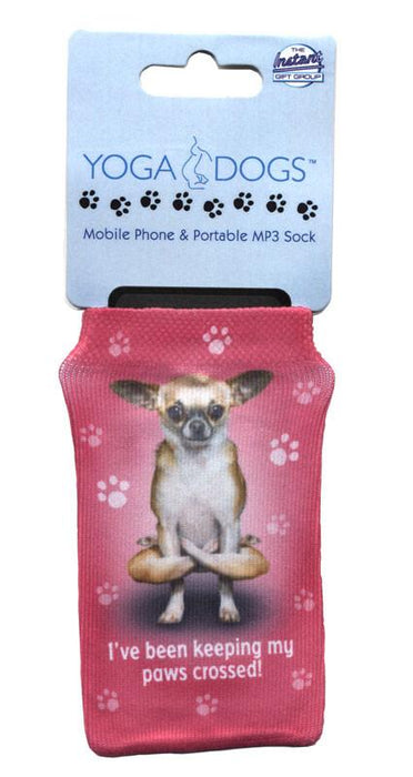Paws Crossed Dog Phone Sock - Yoga Pets