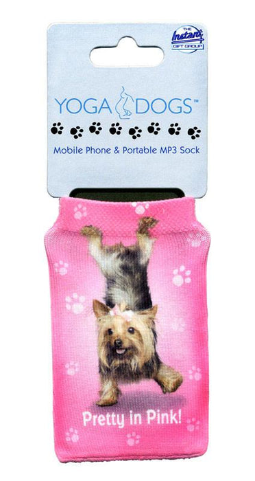 Pretty In Pink Dog Phone Sock - Yoga Pets