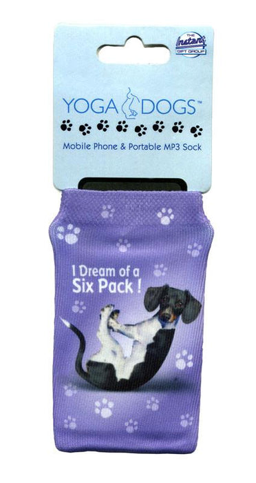 Dream Six Pack Dog Phone Sock - Yoga Pets