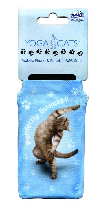 Purrfectly Cat Phone Sock - Yoga Pets