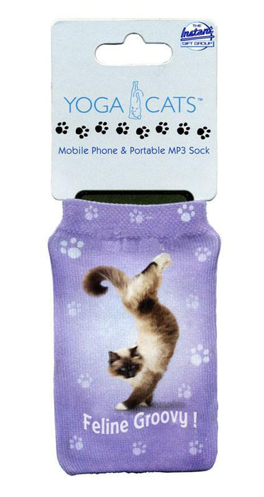 Feline Groovy Cat Phone Sock - Yoga Pets