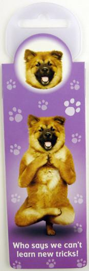 New Tricks Dog Bookmark - Yoga Pets