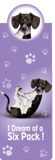Dream Six Pack Dog Bookmark - Yoga Pets