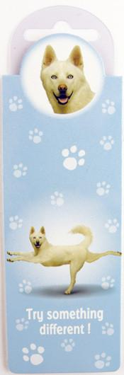 Try Something Dog Bookmark - Yoga Pets