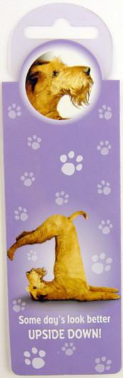 Upside Down Dog Bookmark - Yoga Pets