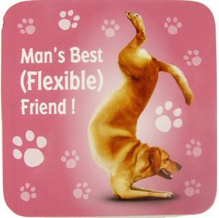 Flexible Friend Dog Coaster - Yoga Pets